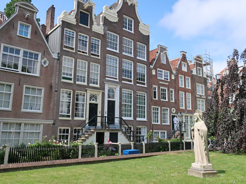 Begijnhof District of Amsterdam Holland